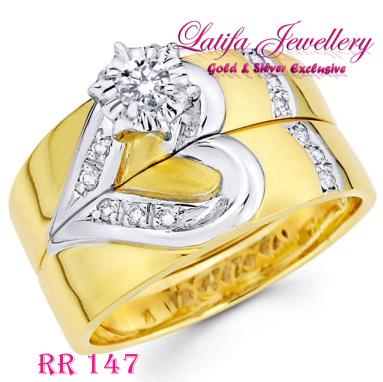 cincin kawin couple love berlian tunangan nikah pernikahan emas perak palladium platina titanium platinum putih kuning RR147