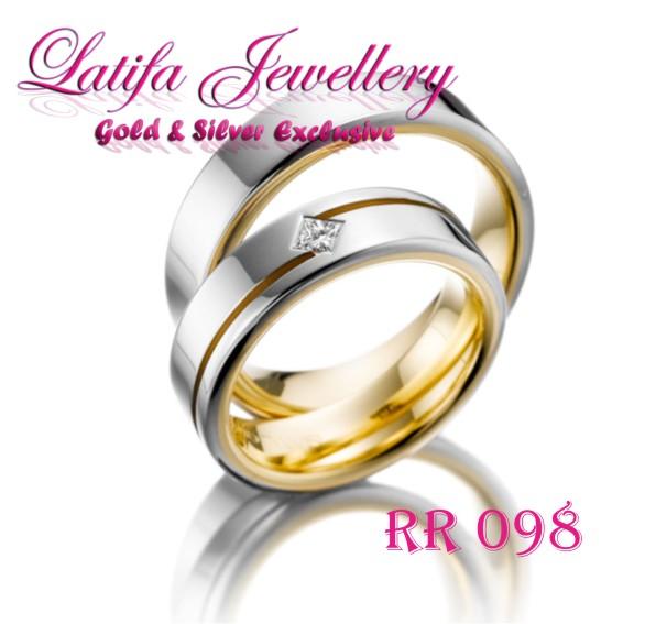 Cincin Pernikahan Emas Putih Unik