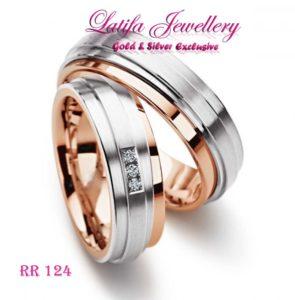 cincin kawin nikah palladium platina perak emas tunangan RR124