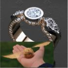 cincin kawin cincin tunangan unik Bola Golden Snitch Harry Potter cincin kawin dan cincin tunangan unik harry potter custom desain emas perak palladium platina jogja jakarta depok bandung semarang surabaya berlian