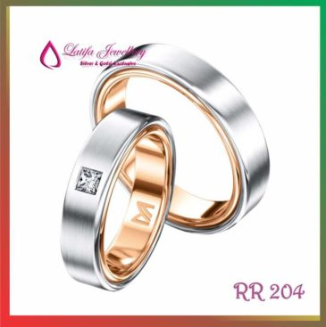 Cincin tunangan rose gold RR 204 - Toko Perhiasan Online TERBAIK ... dbc62442ce